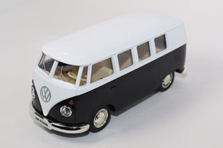 Miniatura Kombi Preto E Branco 1962 / 13cm - Colecionador