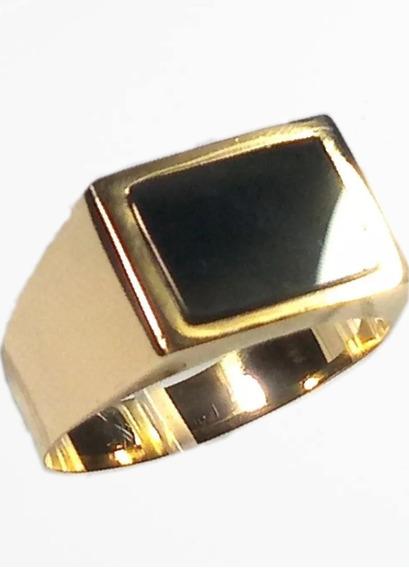 Anel Comendador Ouro 18k Forrado+-5gramas