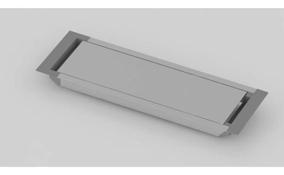 Tapa Pasacable De Aluminio 3 Tomas