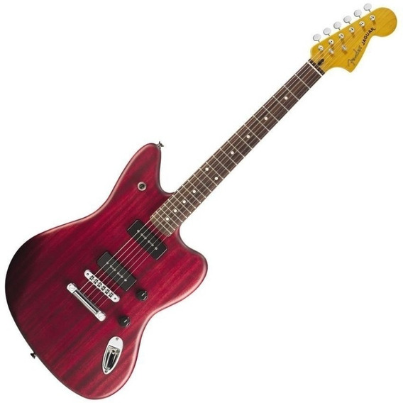 Guitarra Eléctrica Fender Jaguar Modern Player Red Transp 6p