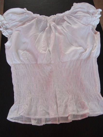 Remera Informal Vestir Usada Mujer Estilo Campesino Talle 42