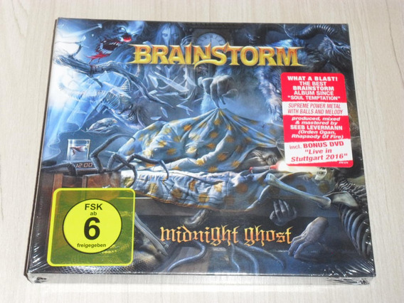 Box Brainstorm - Midnight Ghost 2018 (alemão Digibook + Dvd)