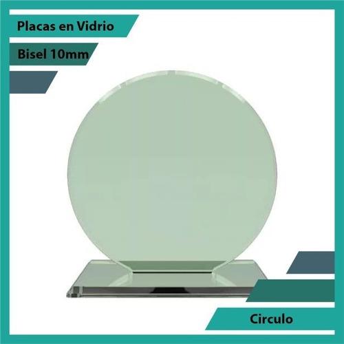 Placas En Vidrio Forma Círculo