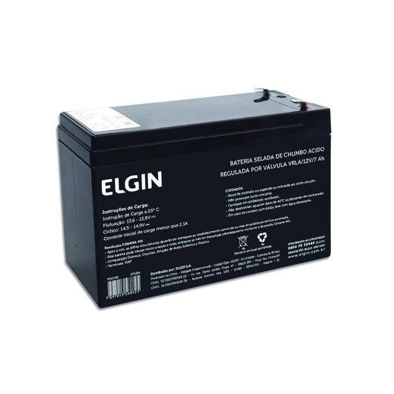 Bateria Selada De Chumbo 12v 7ah - Elgin - Para No-breaks