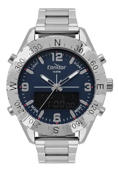 Relógio Condor Masc. Analógico E Digital Prata Cobj3689ac/3a