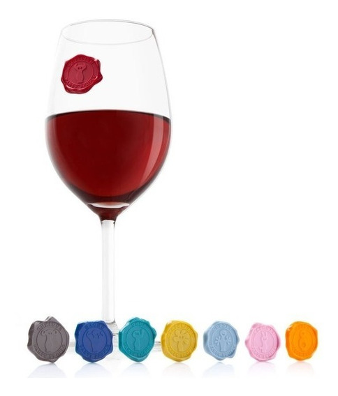 Identificador Marcadores De Copas Vino Glass Marker Classic
