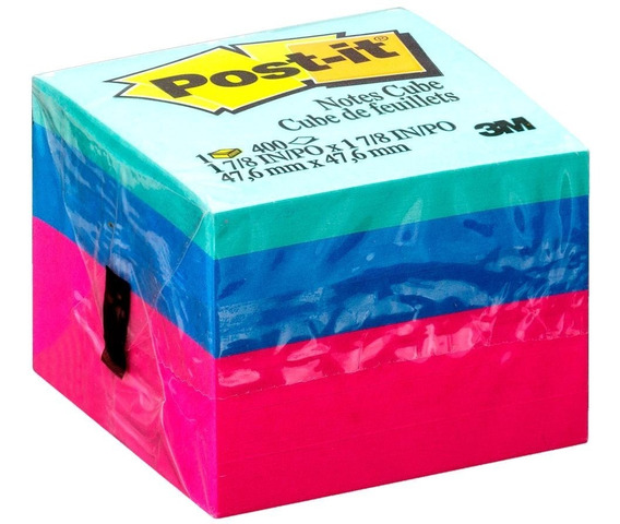 Bloco Adesivo Post-it® Cubo Ultra - 47,6 Mm X 47,6 Mm - 400
