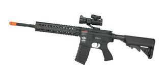 Rifle De Airsoft G&g Cm16 R8-l Com Red Dot Bivolt Cal 6.0mm.
