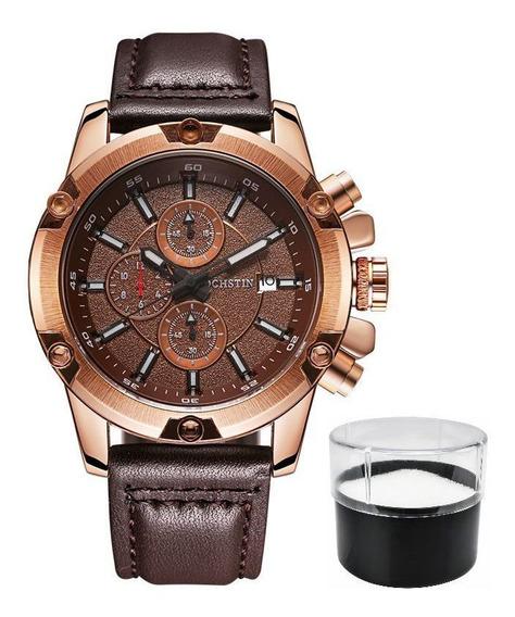 Relógio Ochstin 6075g Original Com Cronógrafo Estojo E Nf