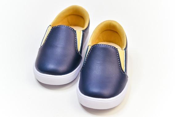 Tênis Masculino Infantil Slip On Azul Marinho