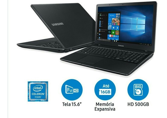 Notebook Samsung Essen Dual Core 4gb 500gb Tela Full Hd 15.6