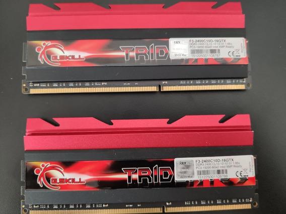 Tridentx Ddr3-2400mhz Cl10 16gb (2x8gb) F3-2400c10d-16gtx