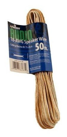 Leviton X C 50-foot 18/2 Awg Speaker Wire