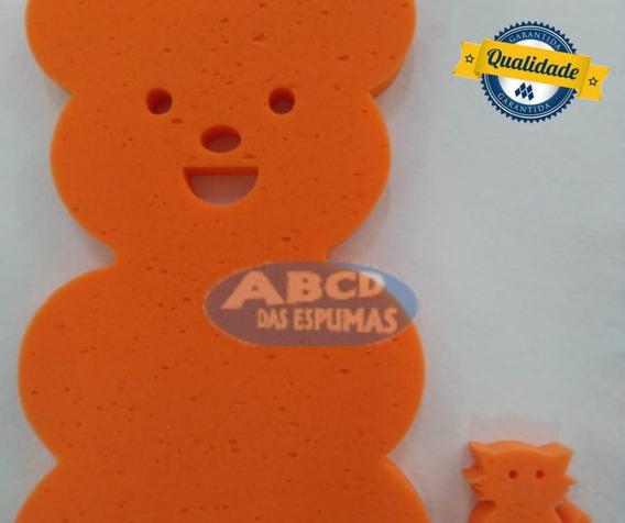 Espuma De Banheira Bebe Anti Derrapante Urso Laranja+ Brinde