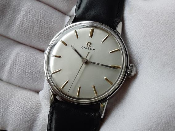 Relógio Omega À Corda Manual De Aço