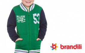Kit 4 Conjuntos Moletom Infantil Jaqueta Brandili Com Calça