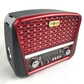 Rádio Antigo Retro Vintage Am/fm Usb Portátil 5w Potência