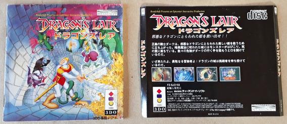 Manual Capa Dragons Lair Panasonic 3do Japonês Bom Estado