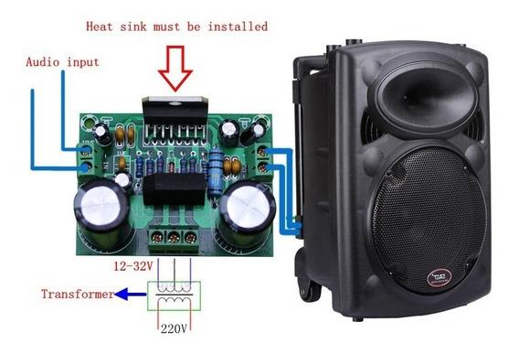 Placa Amplificador 100w Com Fonte Embutida Tda7293 Potente
