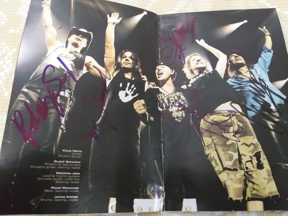 Dvd Autografado Da Banda Scorpions World Tour 2004