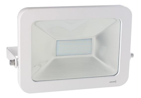 Refletor Led 50w Design Branco | Branco Frio (6000k) - Ledsa