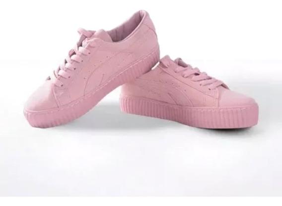 Tenis Con Plataforma-rosado
