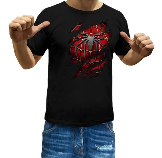 Remeras Hombre Araña Niños Spiderman Superheroe Comic