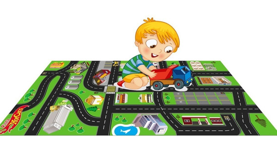 Brinquedos Pista Hot Wheels Tapete Pista Cidade 0,60x1,20m