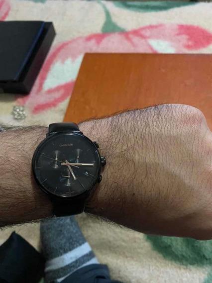 Relógio Calvin Klein Pulseira Em Couro