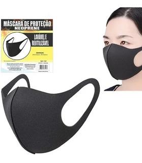Kit 3 Mascaras Tecido Proteção Lavável Neoprene Máscara Top