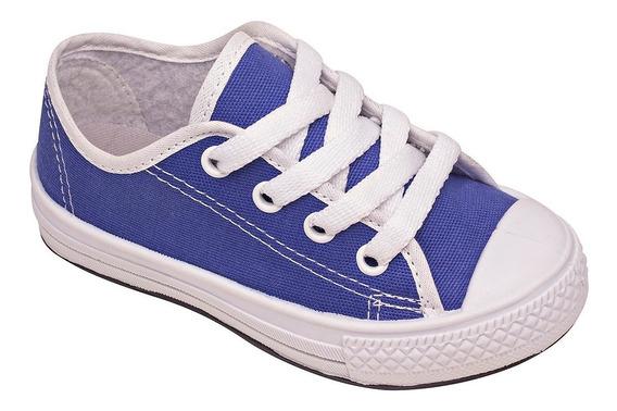 Tenis Menino Confortavel Infantil Pqr Sapato Masculino Azul