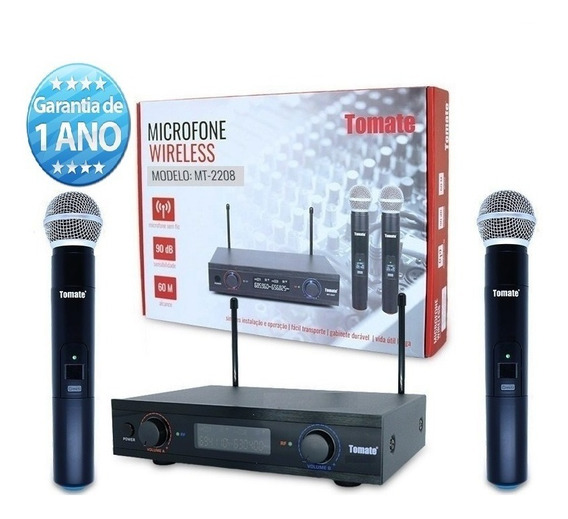 Kit 4 Microfone Sem Fio Wireless Uhf 60m Barato Promoção
