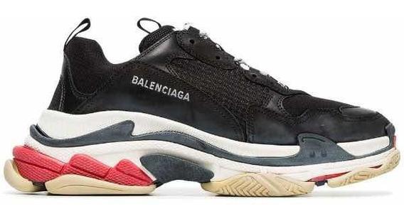 Zapatillas Balenciaga Triple S Rojas Y Negras Talle 44