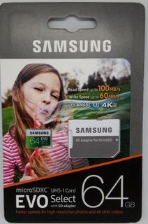 Samsung Evo Select 64gb. Alta Calidad