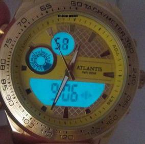 Relogio Atlantis Original Dourado A3271