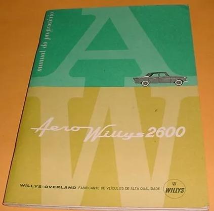 Manual Proprietario Aero Willys - 1963 - Original Usado