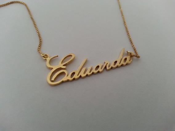 Colar Nome Personalizado Eduarda Em Banho De Ouro18k