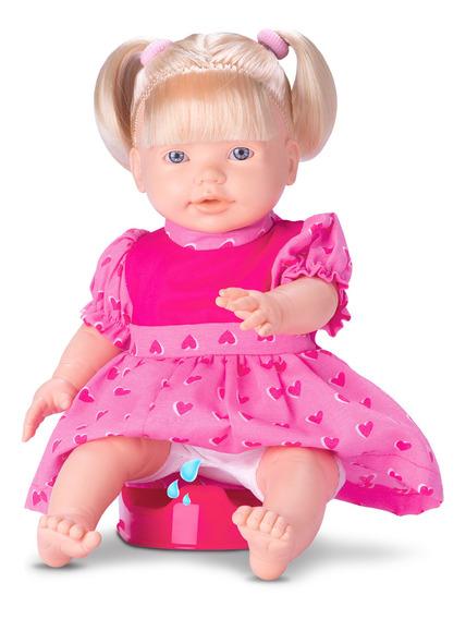 Boneca Baby Pee Faz Xixi C/ Mamadeira E Troninho - Omg Kids