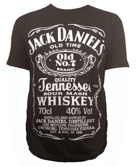 Remera Hombre Jack Daniels. Whisky.