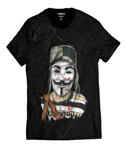 Imagem 1 de 5 de Camiseta Chaves Estilo V De Vingança Vendetta