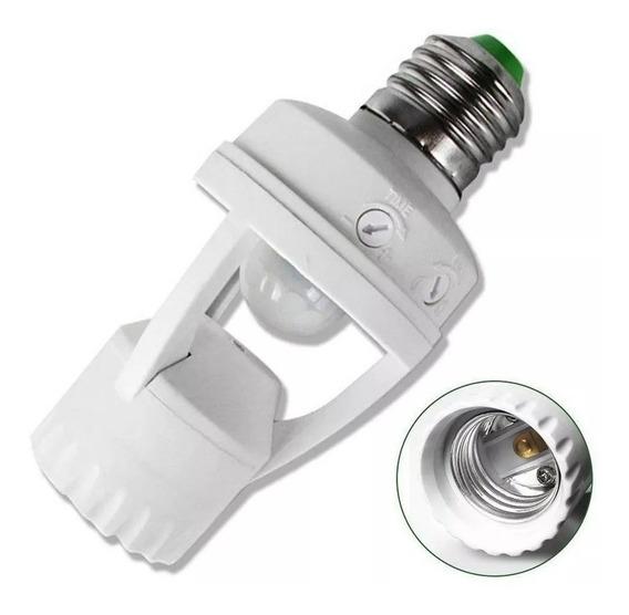 Soquete Bocal Sensor Presença Bivolt Fotocélula P/ Lâmpada