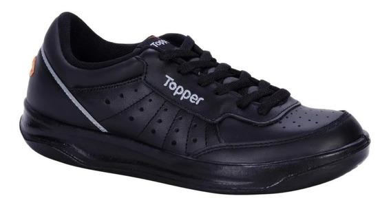 Zapatillas Topper X Forcer Adulto Tenis 100% Cuero Flor