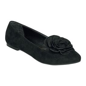 Calzado Dama Mujer Zapato Flat Gosh Negro Casual Cómodo