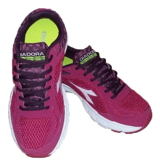 Zapatillas Diadora, Mod Fly-w/ Running Mujer- Green Sport