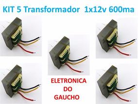 Kit 5x Transformador 1x12 Volt 600 Ma Para Fontes Diversas