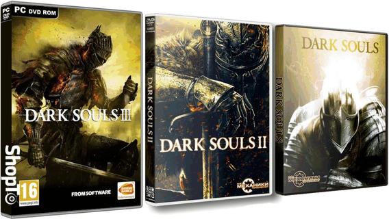 Combo Dark Souls 1,2,3 Trilogia 3 Jogos Pc Dvd Frete 8 Reais