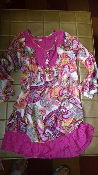 Sweet: Hermosa Camisola Larguita Ideal Para Calzas C/ Encaje