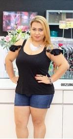 5 Blusinha Plus Size Blusas Roupas Femininas Barata Atacado
