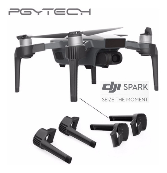 Pgytech Trem De Pouso Extensor Drone Spark Original E Homologado Dji