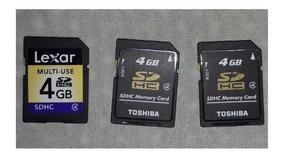 3x Unidades Cartão De Memória Sd Card 4gb Lexar Original
